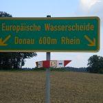 Wasserscheide Rhein Donau